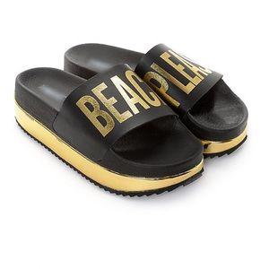 "Shoes - ""BEACH PLEASE"" Platform pool slides (NEW)"