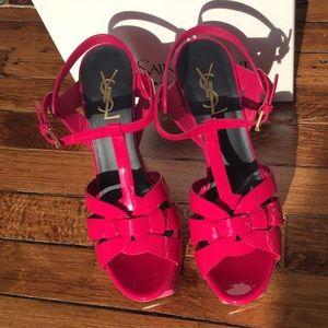 2298b9d1f7 Yves Saint Laurent Shoes | Ysl Hot Pink Tribute | Poshmark