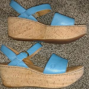 Born leather wedge sandal