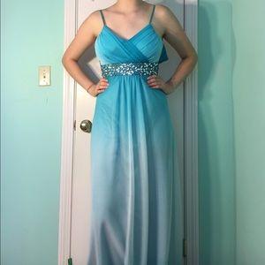 Dresses & Skirts - Blue Ombre Formal Dress