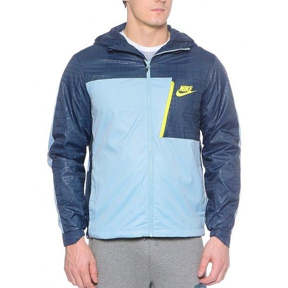 Nike Sportswear Windrunner AV15 Blue Hooded Jacket 37cb77f7f