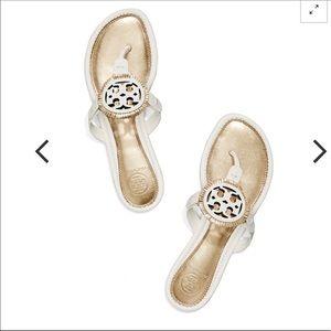 Tory Burch Miller Fringe Sandal Shoes
