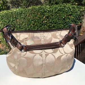 Coach Signature 12675 Tan Brown Soho Hobo Bag