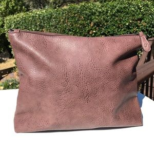 Free People Brown Portfolio Pouch iPad Laptop