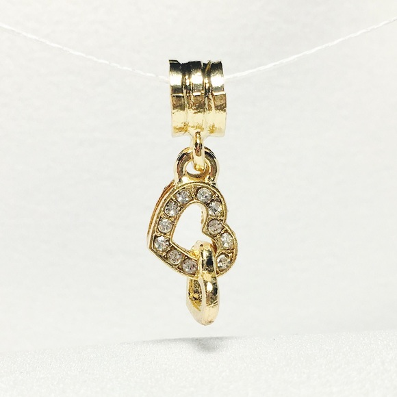 pandora dangle charm gold plated from m