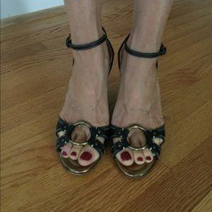JCrew Ankle Strap Wedge Sandals