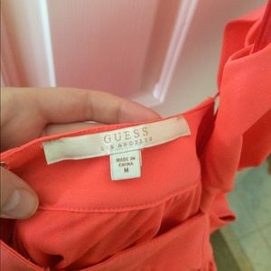 Guess Dresses - Strappy Fit and Flare Peach Dress