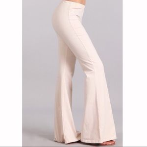 Mineral Wash Flare Pant in Nude