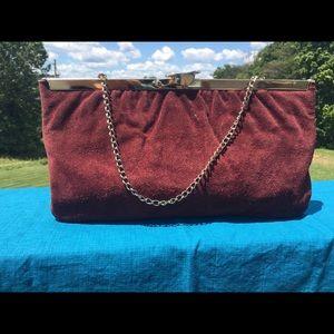 Handbags - Vintage suede clutch