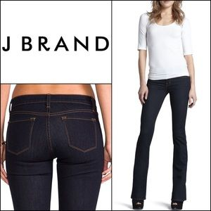 J Brand Slim Bootcut Jeans in Starless