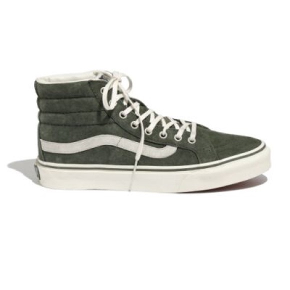 70abf3b678 Madewell Shoes - Madewell Vans Women s Green Vans Sk8-Hi Slim Suede
