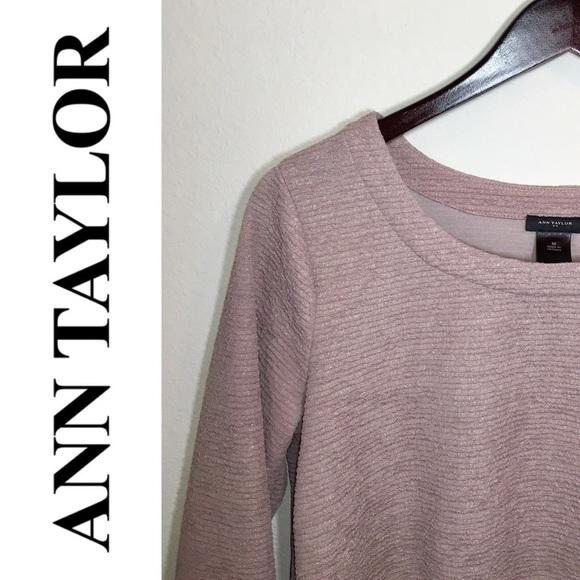 ccde51fbe2d81 Ann Taylor Tops - Ann Taylor Blush and Gold Metallic Top