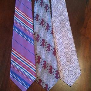 Vintage 1970s Wide Necktie Bundle Wearable Art