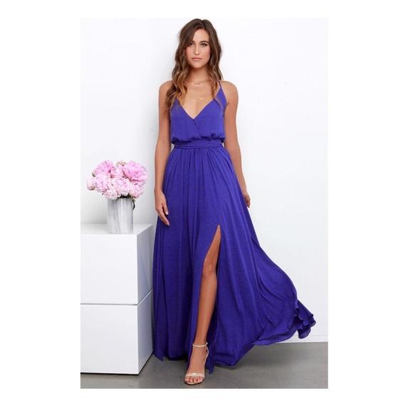 9bbb6a2a6d7 Lulu s Dresses   Skirts - Lulus BIENVENIDO A MIAMI INDIGO MAXI DRESS