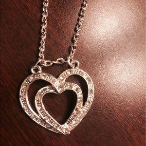 Crystal Heart Necklace adjustable