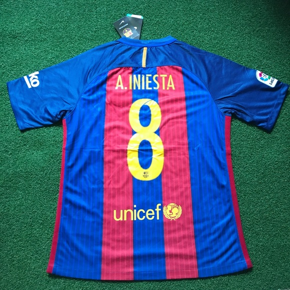 72aebe93a A. INIESTA Barcelona Soccer Jersey Short Sleeve  8