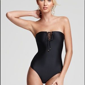 Pily Q One Piece Lace-Up Swimsuit