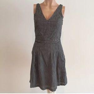 Joie xs black & white cutout geometric sundress
