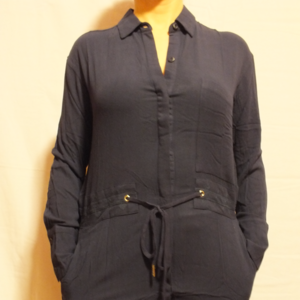 NWT ESLEY ANTHROPOLOGIE NAVY BELTED TUNIC DRESS