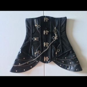 Tops - Brand New Black Corset with Lace. Size XS-SMALL.