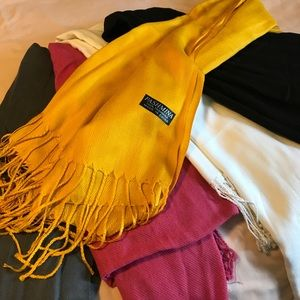 Accessories - 5 Scarves/wraps in various colors selling as a set