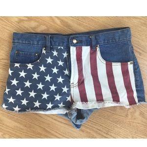 F21 Stars + Stripes shorts
