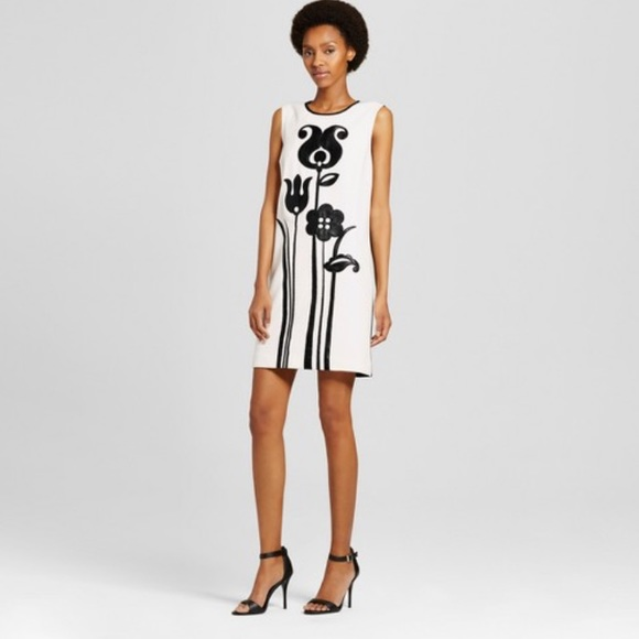 New With Tags Victoria Beckham Black White Dress Nwt