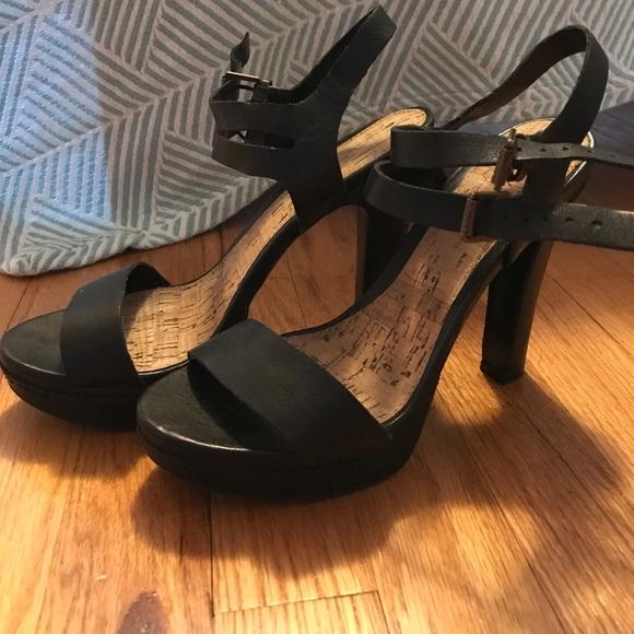 72c55cec7ca Ralph Lauren Black Platform Block Heel Sandals