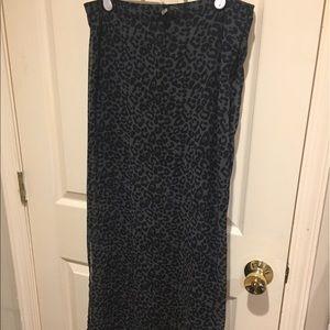 H&M illusion Maxi Skirt
