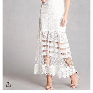 Dresses & Skirts - Crochet White off the shoulder dress
