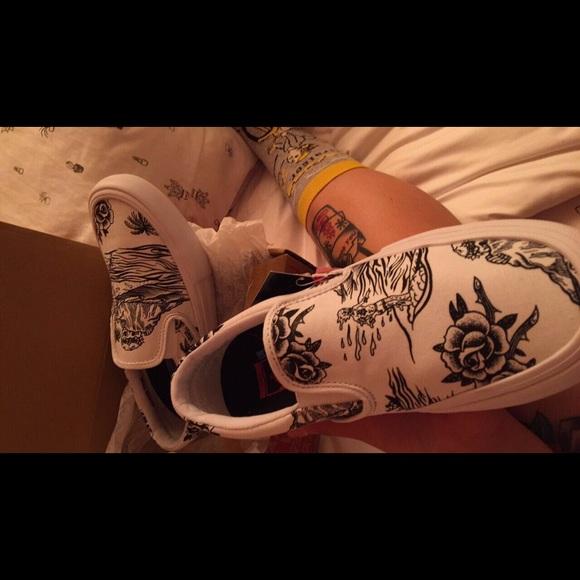 88be984ffb Vans Shoes - Vans x Sketchy Tank Slip-On Pro Skate Shoes