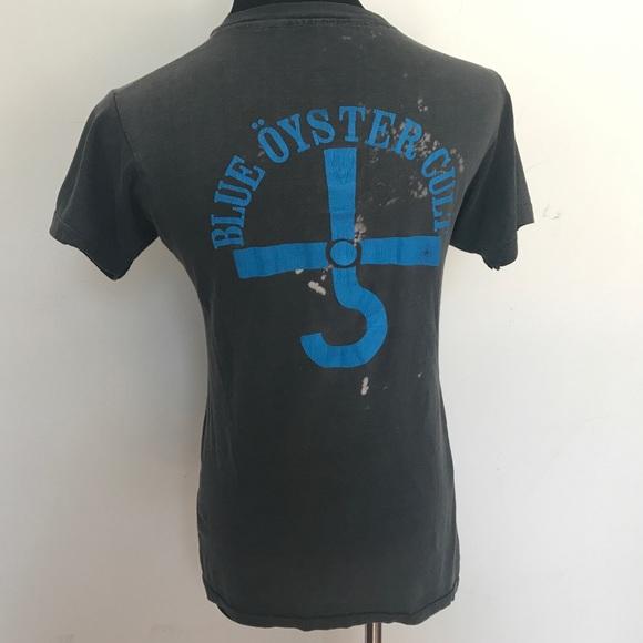 Vintage Tops - Vintage blue Oyster Cult T-shirt