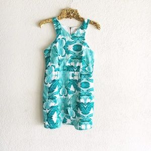 Tropical Palm Leaf Print Dress