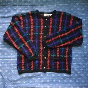 Vintage Carriage Court Button-down Sweater