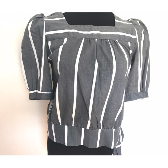 Vintage Tops - Adorable 80's Peplum Sleeve blouse
