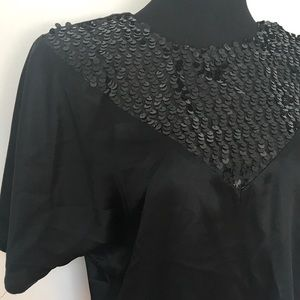 Vintage Tops - Vintage satin and sequin blouse