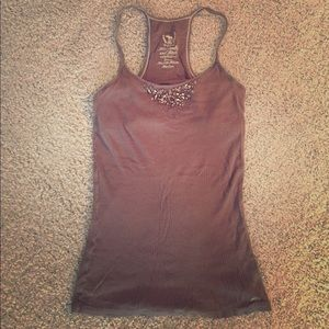 Brown Abercrombie & Fitch racerback tank