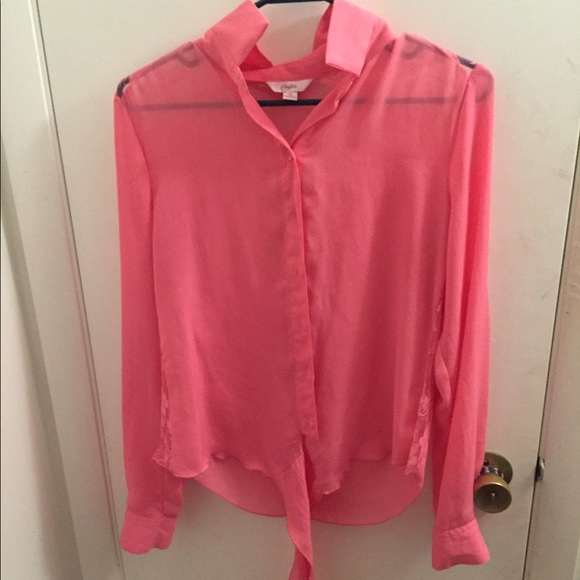 50 Off Candie 39 S Tops Candies Pink Button Up Women 39 S