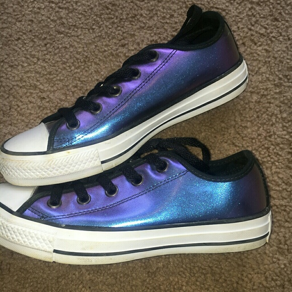 865732c3be2490 Converse Shoes - Rare HTF iridescent Converse shoes