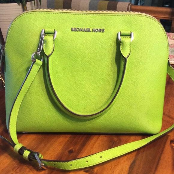 830f813b1f52 MICHAEL Michael Kors Bags | Michael Kors Lime Green Handbag | Poshmark