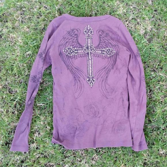 Vocal Tops - Purple Cross Shirt