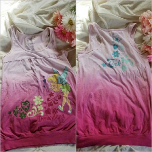 Disney Tops - Pink Tinkerbell Tank Top