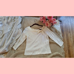 Cable & Gauge Tops - Tied Boatneck Blouse