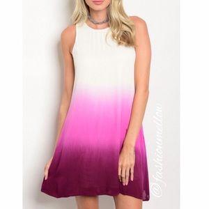 Dresses & Skirts - Raspberry ombré dress (LAST M)