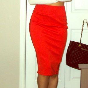 Thalia Sodi red pencil skirt size XS