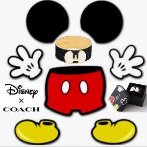 Coach X Disney LTD Mickey Ponderous Enamel Bangle