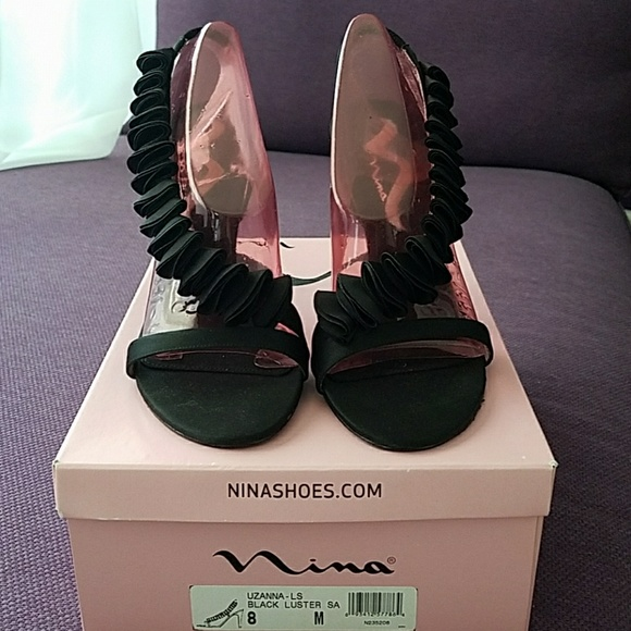 Nina Shoes - Nina Shoes Ruffle detailed heels