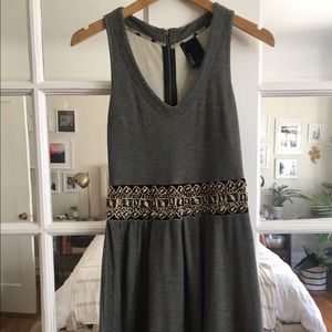 Tshirt Dress with Beaded Detailing