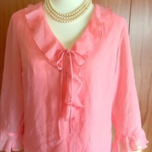 5️⃣ Dress Barn Medium Pink Blouse 👚
