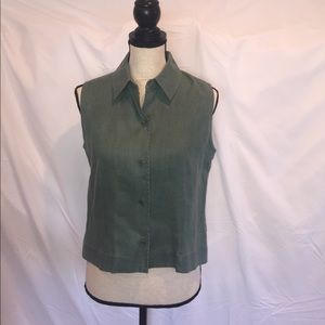 EUC Embassy Row Pure Linen S/S Collared Blouse